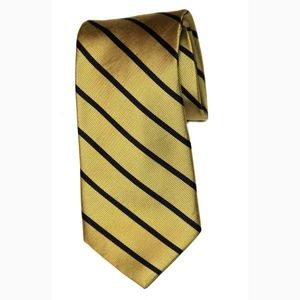 Vintage Jos A Bank Silk Tie Yellow Blue Long Men's